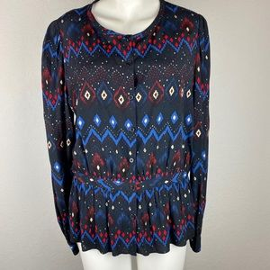 & Other Stories Button Down Diamond Top Size 10